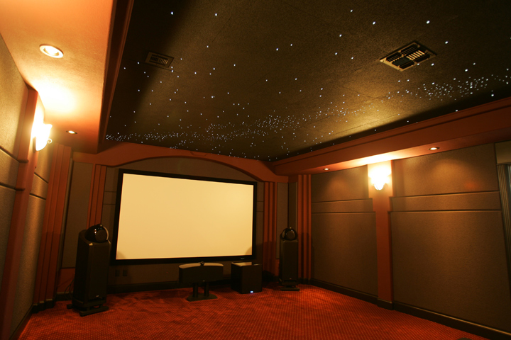 Home theater ceiling tiles
